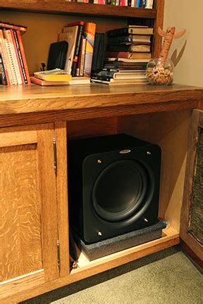 Where To Put Subwoofer In Living Room by Subwoofer Inside Cabinet Scifihits