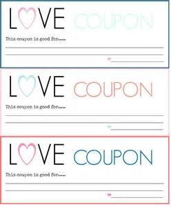 Love coupon templates printable free