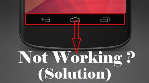 not working on android da52 home back recent button not working in android 100 solution