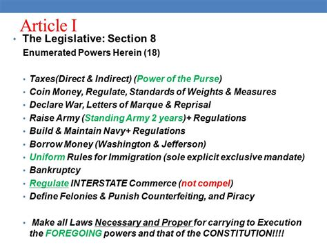 article 1 section 8 clause 2 article clause 18 article explained less than unique
