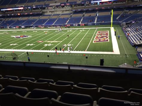 jam section club level sideline alamodome football seating