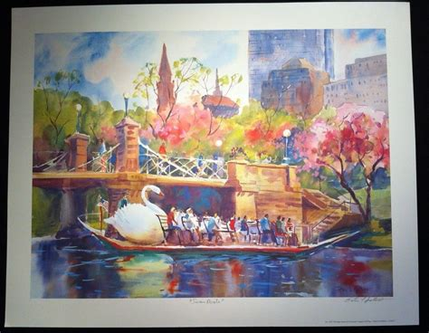 boston swan boats art peter spataro fine art print quot swan boats quot artist