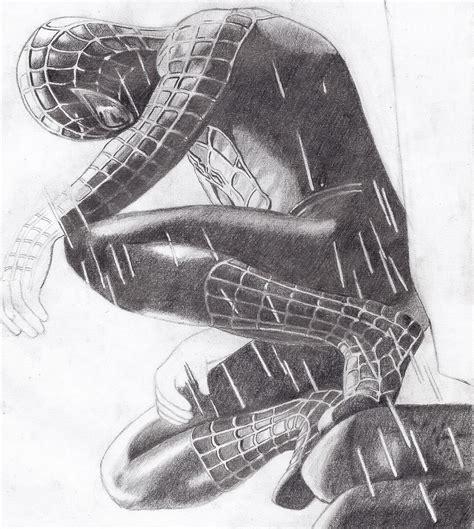 imagenes a blanco y negro de spiderman spiderman negro dibujo propio taringa