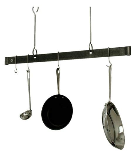 Hanging Pan Racks by Sleek Ceiling Bar Hanging Pot Rack In Hanging Pot Racks