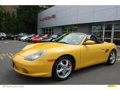 yellow porsche boxster 2003 speed yellow porsche boxster s 13683050 gtcarlot