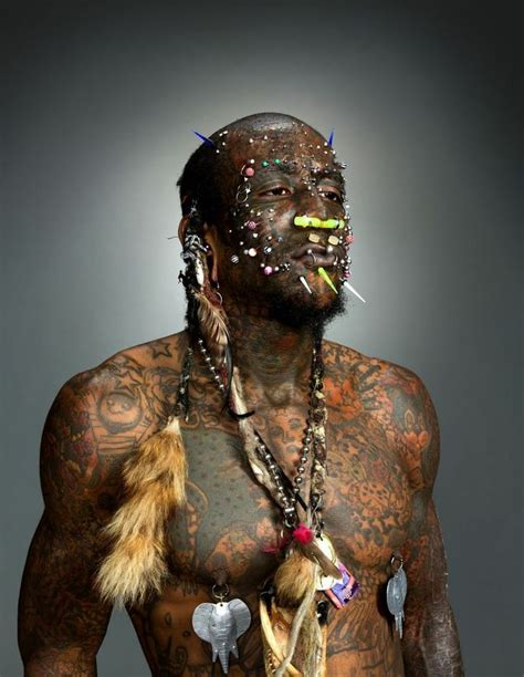 black history tattoo quot the creature quot is one of the world s most tattooed