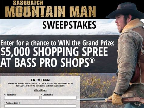 Bass Pro Sweepstakes 2017 - bass pro shops outdoor channel 2017 quot mountain man quot sweepstakes