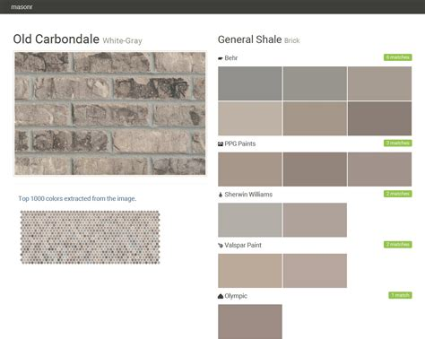 carbondale white gray brick general shale behr ppg paints sherwin williams valspar