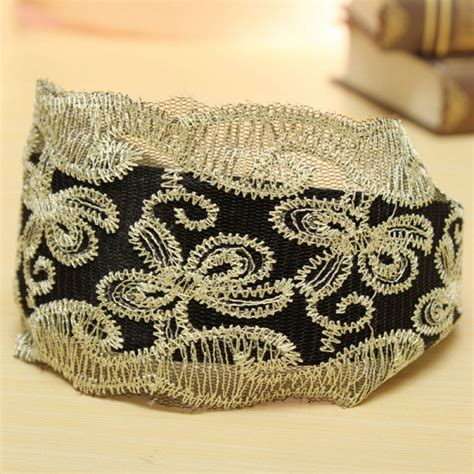 Bow Lace Hair Band buy vintage womens lace headband hairbow hair band