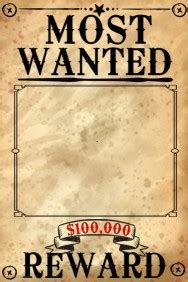 Wanted Poster Templates Postermywall Printable Wanted Poster Template Free