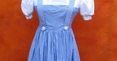 Oz Dres Mickey Whiite vintage dorothy wizard of oz costume dress blue white gingham pumpkin