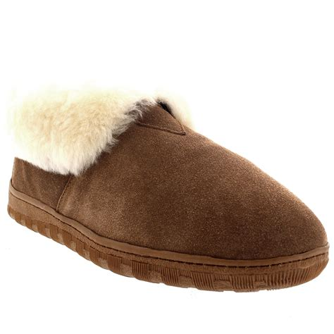 slippers boots mens real australian sheepskin fur lined warm ankle boot