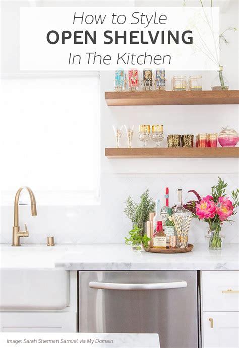 open shelving in kitchen inspiration for styling open kitchen shelves tile mountain