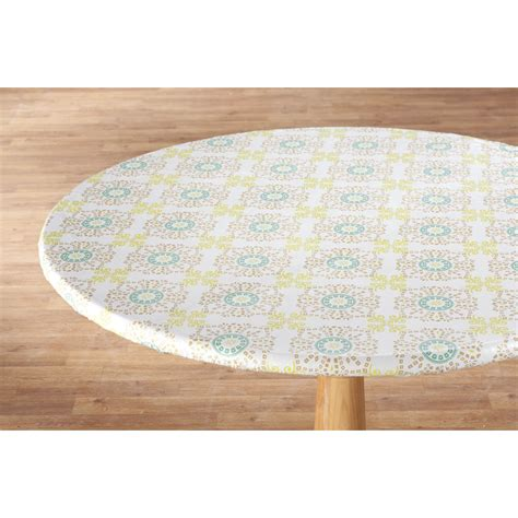 medallion vinyl elasticized table cover by hsk ebay
