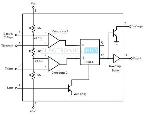 ic 555 schematics 555 timer tutorial the monostable
