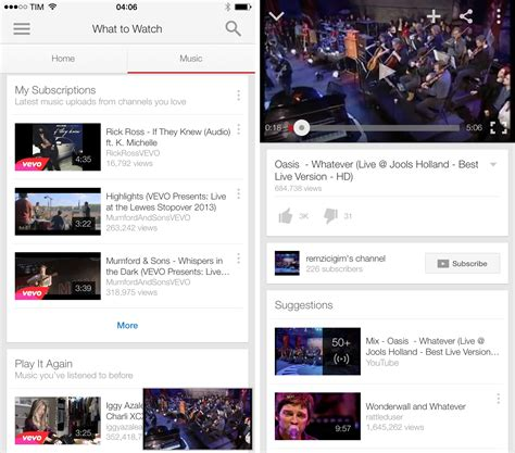 new youtube layout ios google updates youtube for ios with new music section