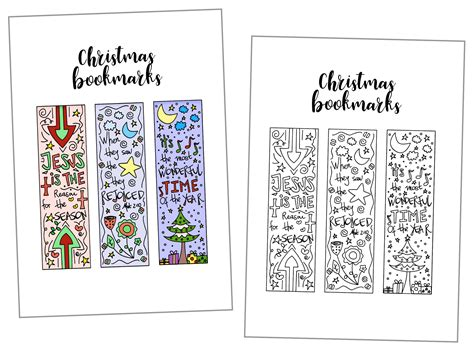 printable xmas bookmarks coloring christmas bookmarks free printable daydream