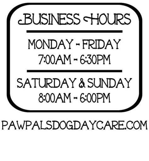 hours of operation template business hours vinyl decal store hours open hours