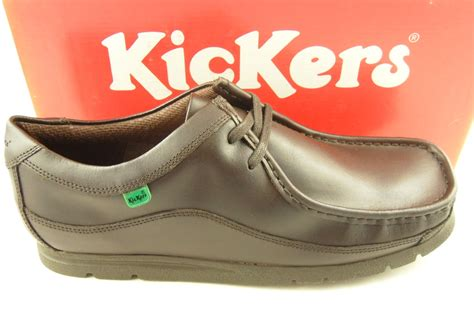 Kickers New Shingkay Leather Brown mens kickers fragile brown leather wallaby shoes 6 11 ebay
