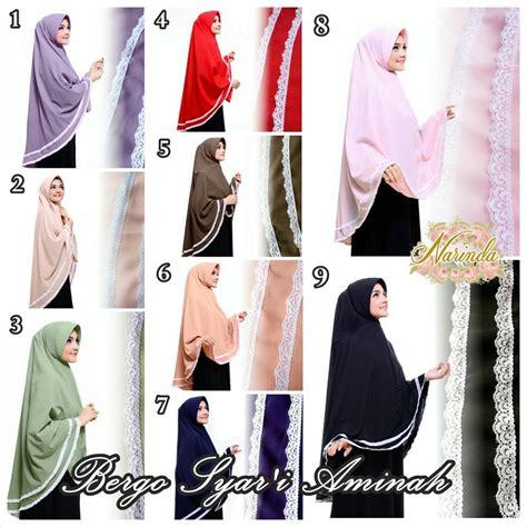 Syari Bergo Black Premium jilbab bergo syar i aminah by narinda jilbabbranded biz jual jilbab branded original