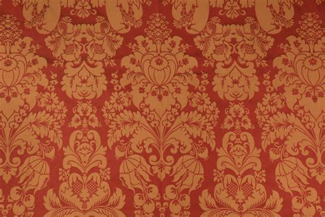 red gold upholstery fabric 2 2 yards damask upholstery fabric in gold red