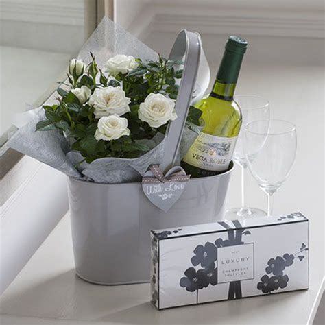 small housewarming gift white wine a small little plant a simple gift gift