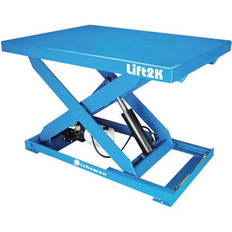 hydraulic lift table bishamon industries electric hydraulic lift table 28in