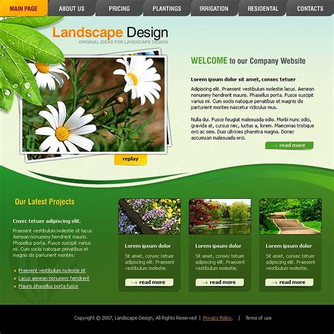 parkstyle lawn mowing and landscape design wordpress theme by