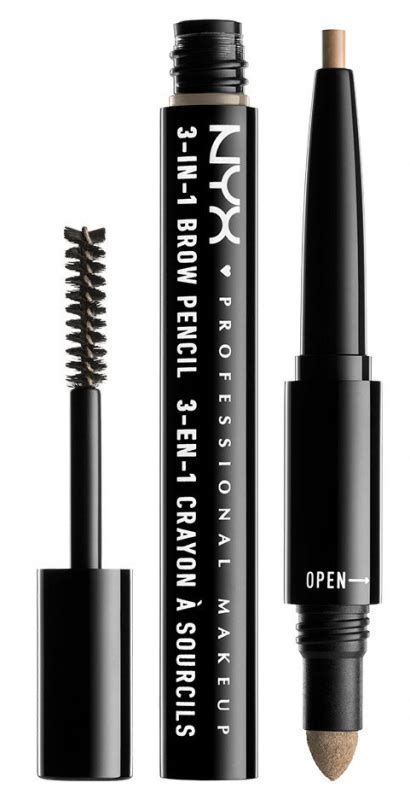 Nyx Eyebrow Pencil Crayon A Sourcils 0 25gr 14 nyx professional makeup sourcils 3in1 brow 3in1 eyebrow makeup