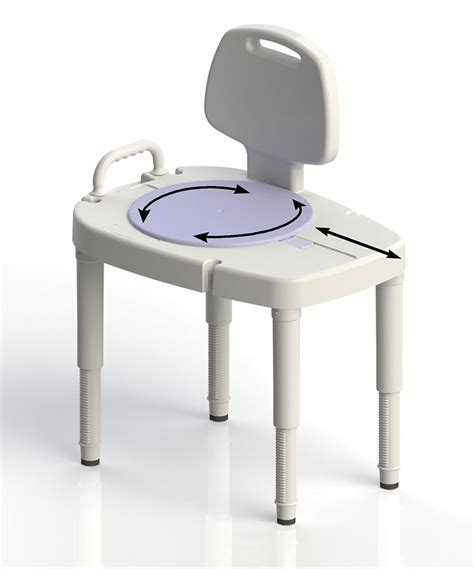 transfer shower bench bathtub transfer bench with rotating swivel seat