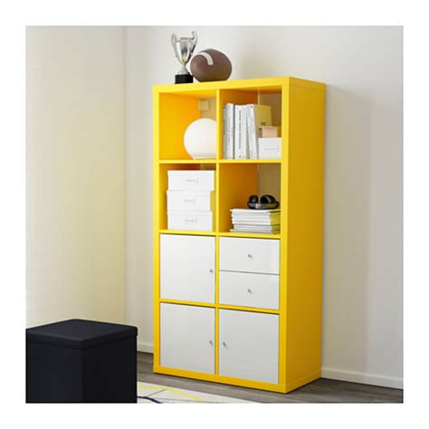 kallax shelving unit yellow 77x147 cm ikea