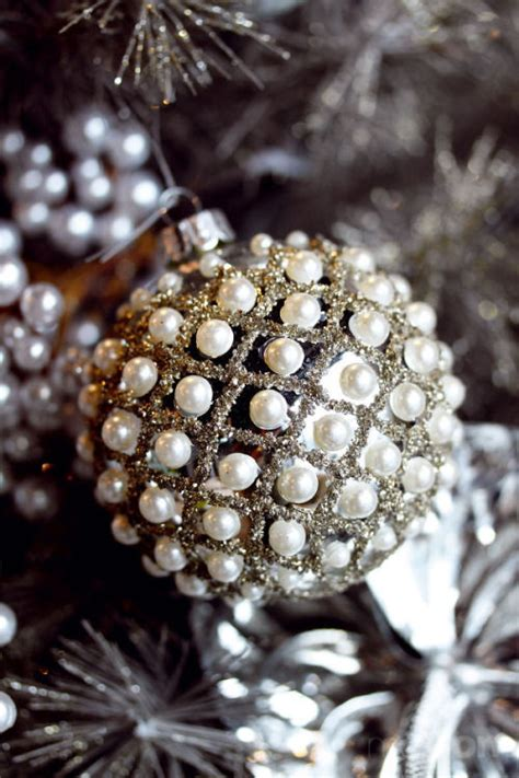 glitter pearl ornament pictures photos and images for