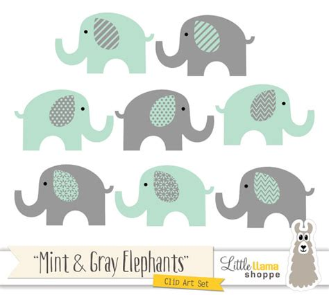 Mint Elephant Rug by Mint And Grey Elephants Clipart Mint Green And Gray