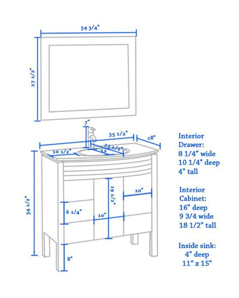 height for bathroom vanity average height of bathroom vanity