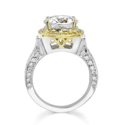 Two Tone Halo Engagement Ring - barkev s two tone halo engagement ring 7118lyd