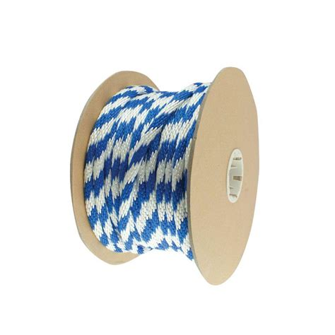 everbilt 5 8 in x 1 ft blue and white solid braid