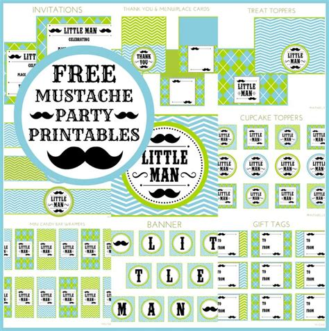 mustache template for baby shower baby shower invitation printables little man mustache