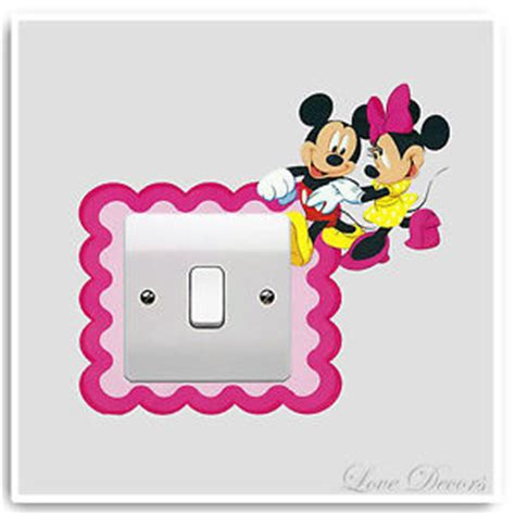 Minnie Mouse Nursery Decor by Minnie Mouse Light Switch Wall Stickers Decor Decal Mural
