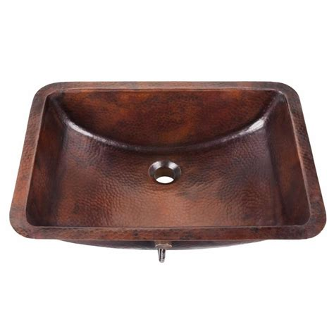 copper undermount bathroom sink shop thompson traders solid pure copper copper undermount