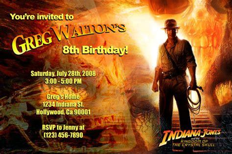 indiana jones birthday invitations indiana jones invitations general prints