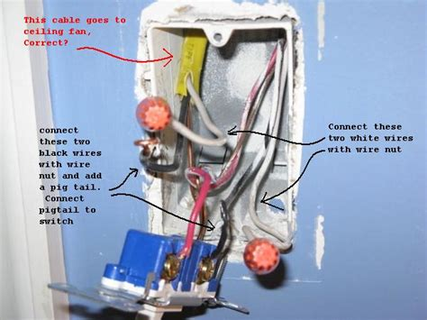 stuck wiring ceiling fan  existing light switch