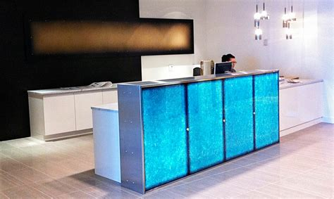 Led Reception Desk Illuminated Reception Desk Custom Effects Led Solutions Surrey Bc Canada Glacier Corian 174