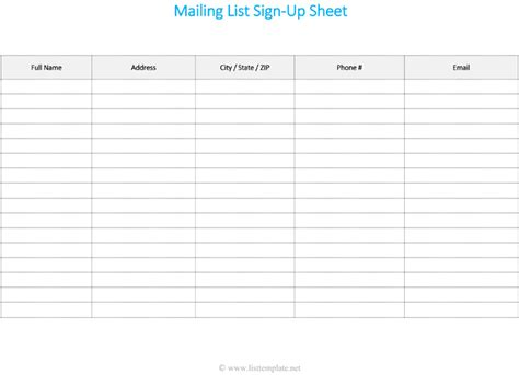 list template mailing list template to do list template image gallery list template
