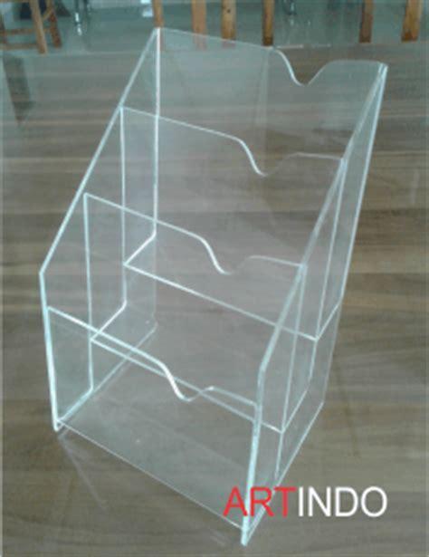 Acrylic Lembaran Bening 3mm 12 X 12 Cm tempat brosur tb 39 acrylic akrilik acrylic display