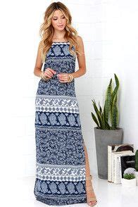 Dress Maxi Dress 27419 Blue White Summer Totem S M L Dress 10 best things i want to get myself images on summertime casual dresses