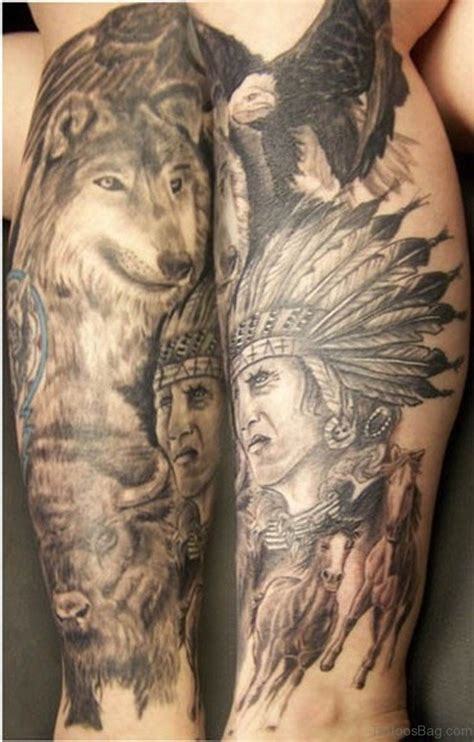 tribal chief tattoo american tribal wolf 187 4k pictures 4k