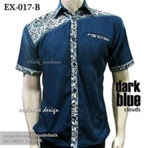 Kemeja Batik Kombi Denim s print shirt white colour block ohema ohene