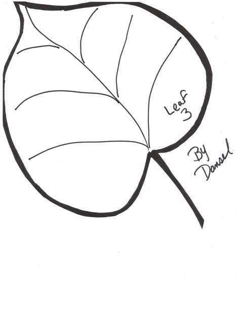 leaf template free clipart best