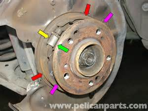 mercedes w210 parking brake replacement 1996 03
