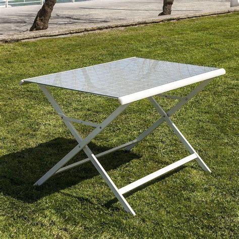 tavoli pieghevoli in alluminio tavolo pieghevole benat da esterno in alluminio e vetro 120 cm